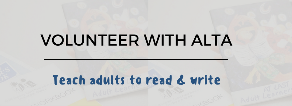 Call us to find out how you can become an ALTA volunteer tutor: 624-2582